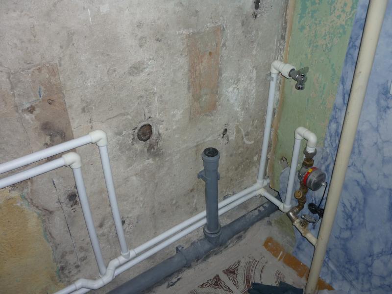 Ремонт канализации ванной комнаты своими руками