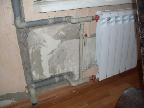 Permission to replace radiators